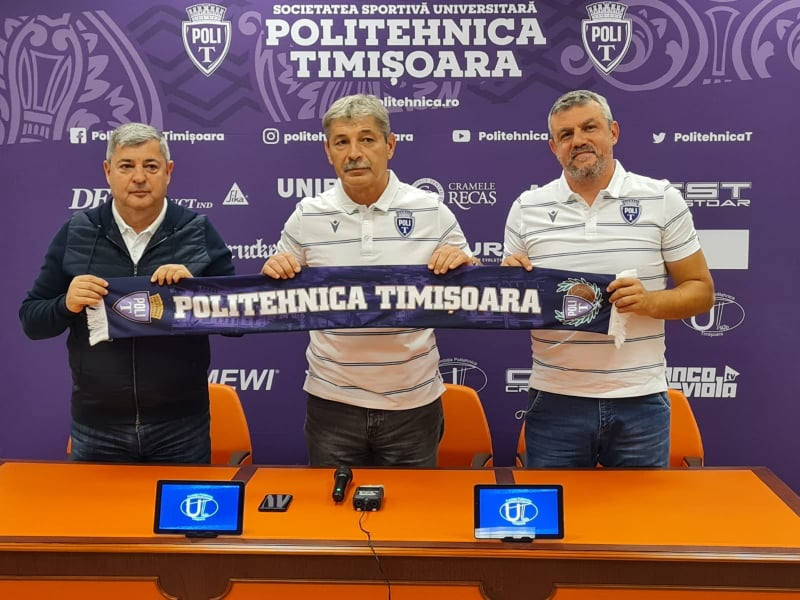 """POLITEHNICA GOES TO SLOBOZIA WITH NEW TECHNICAL MANAGEMENT. NICOLAE CROITORU: """"LET'S RESTORE THE SPIRIT OF THE CLUB!"""""""